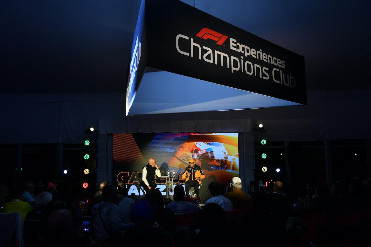 carlos sainz champions club reception COTA