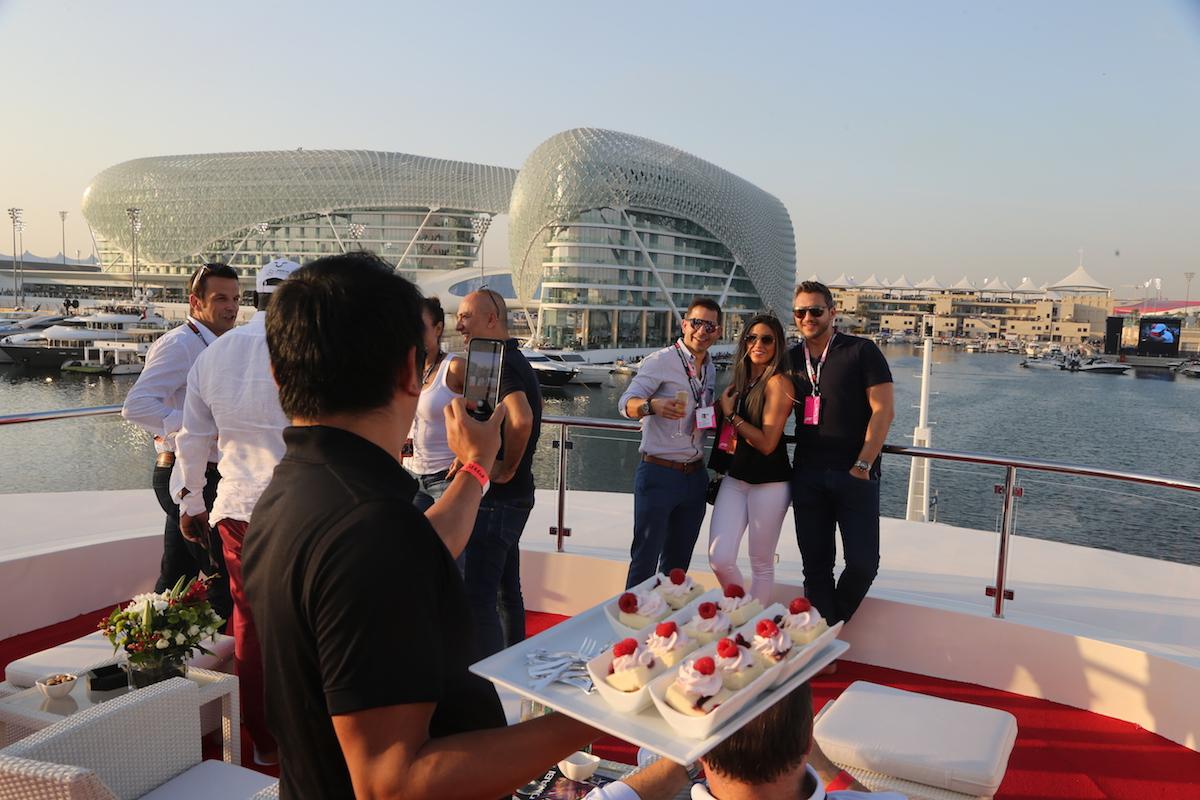 F1 Experiences AbuDhabi champions club yacht 156