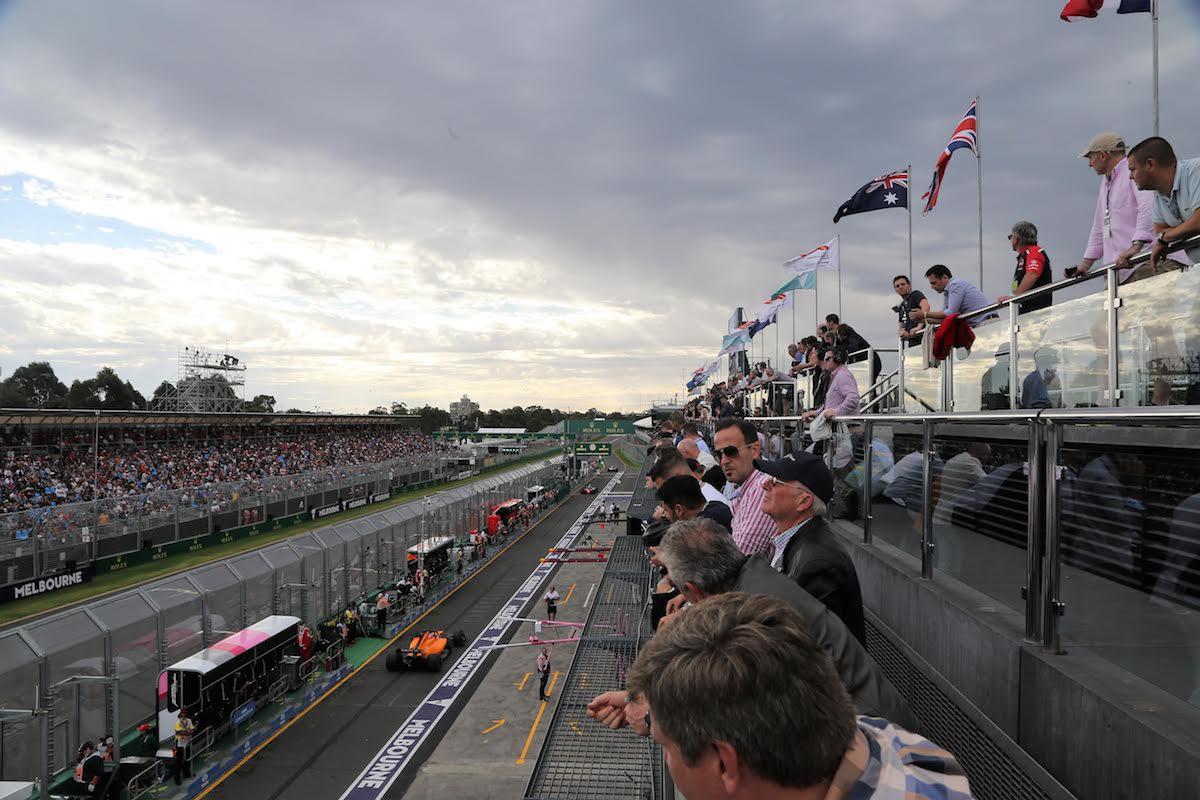 view from Formula 1 Paddock Club at Australian Grand Prix F1 Experiences
