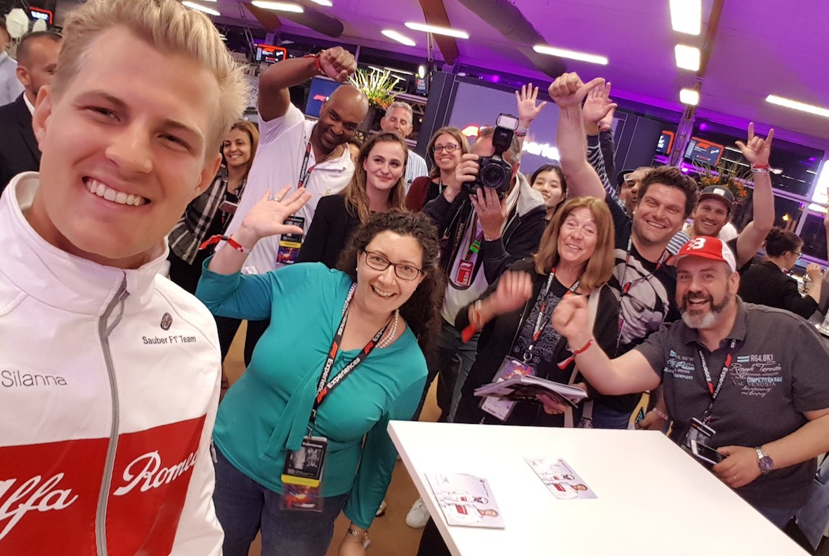 Ericsson selfie with F1E guests - 2018