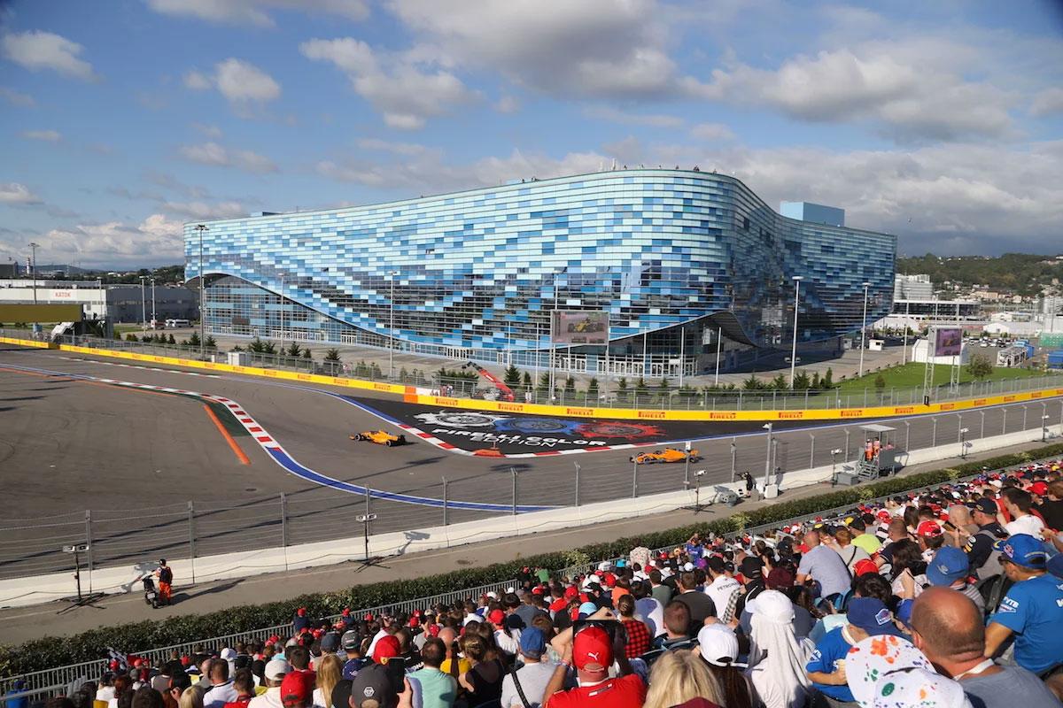 Russian Grand Prix Turn 2 Grandstand Sochi Autodrom