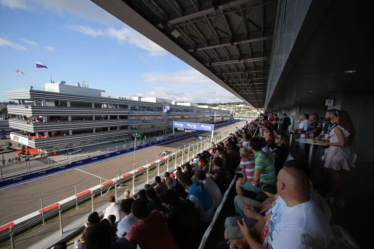 Russian Grand Prix Main Grandstand Sochi Autodrom