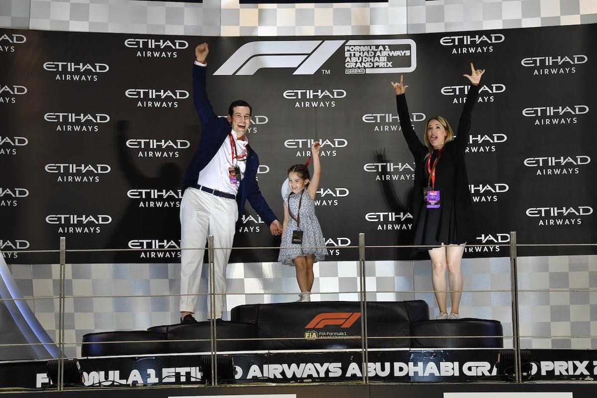 F1 Experiences Abu Dhabi Grand Prix Podium Photo