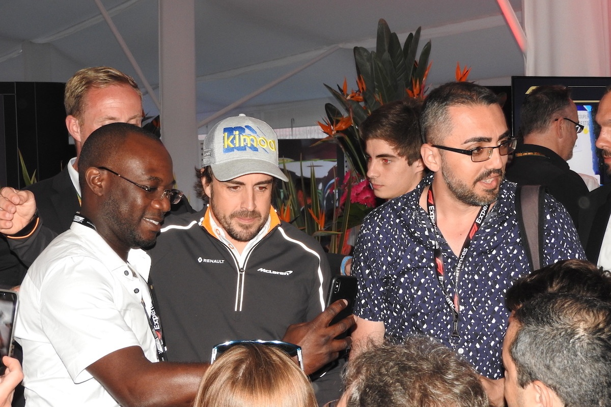 paddock club party spanish grand prix fernando alonso