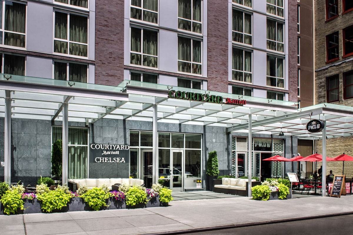 exterior of Courtyard by Marriott New York Manhattan/Chelsea belmont experiences accommodations