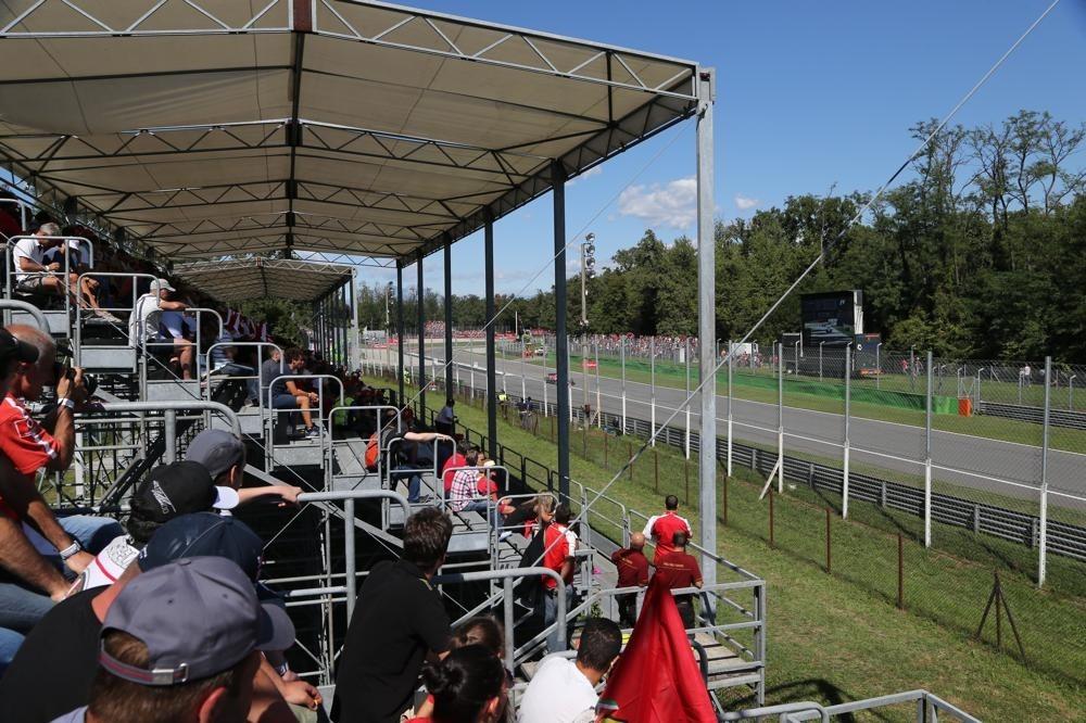 Podium seats at the Silverstone Grand Prix
