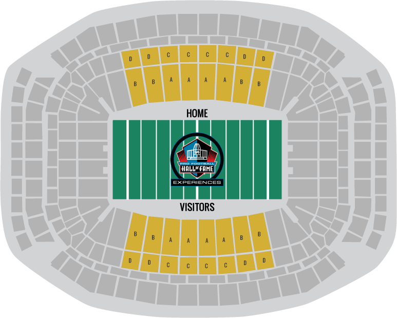 Super Bowl 51 Seating Chart All Gold