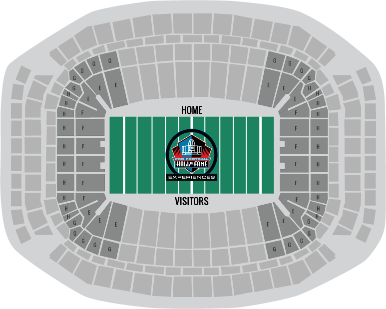 Super Bowl 51 Seating Chart All Silver