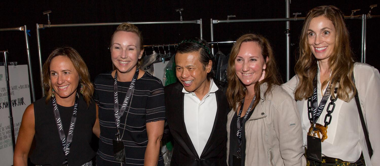 group photo at new york fashion week