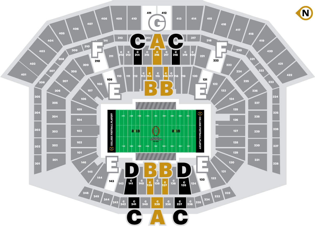 2019 college football playoff championship seating chart