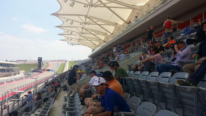 MotoGP Austin Main Grandstand crowd