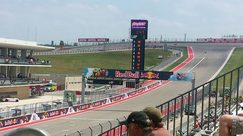 MotoGP Austin view from the Main Grandstand