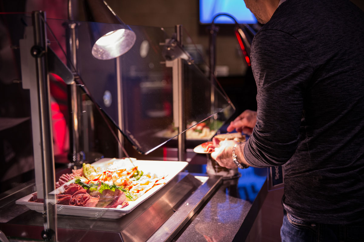 UFC Experiences Premium Hospitality Food Buffet