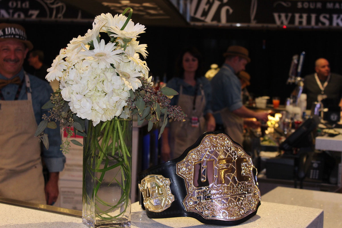 Championship belt in UFC Experiences Premium Hospitality
